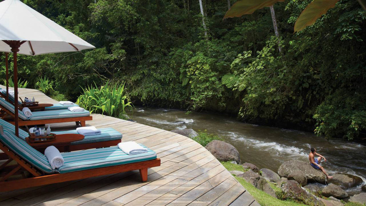 Deck, River, Four Seasons Resort Bali in Sayan, Bali