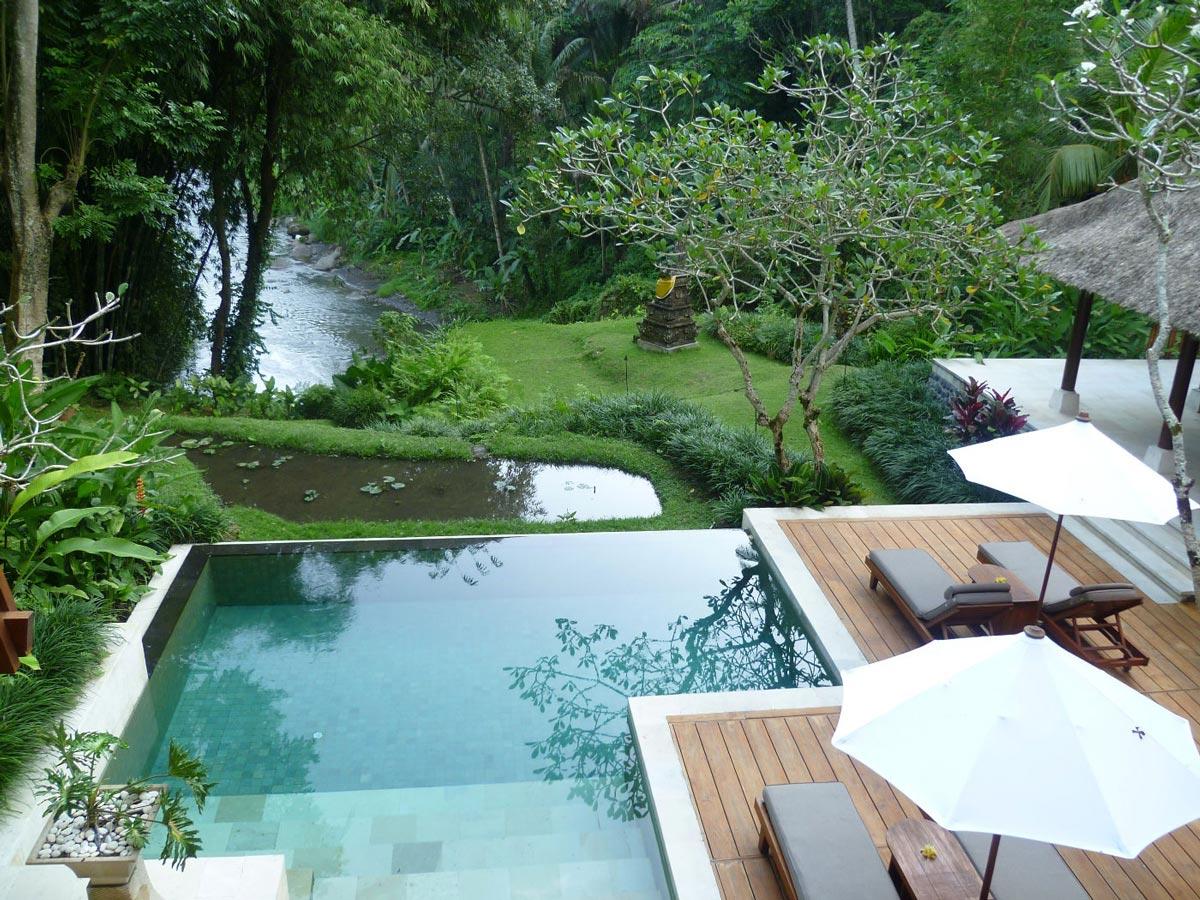Infinity Pool, Terrace, Four Seasons Resort Bali in Sayan, Bali