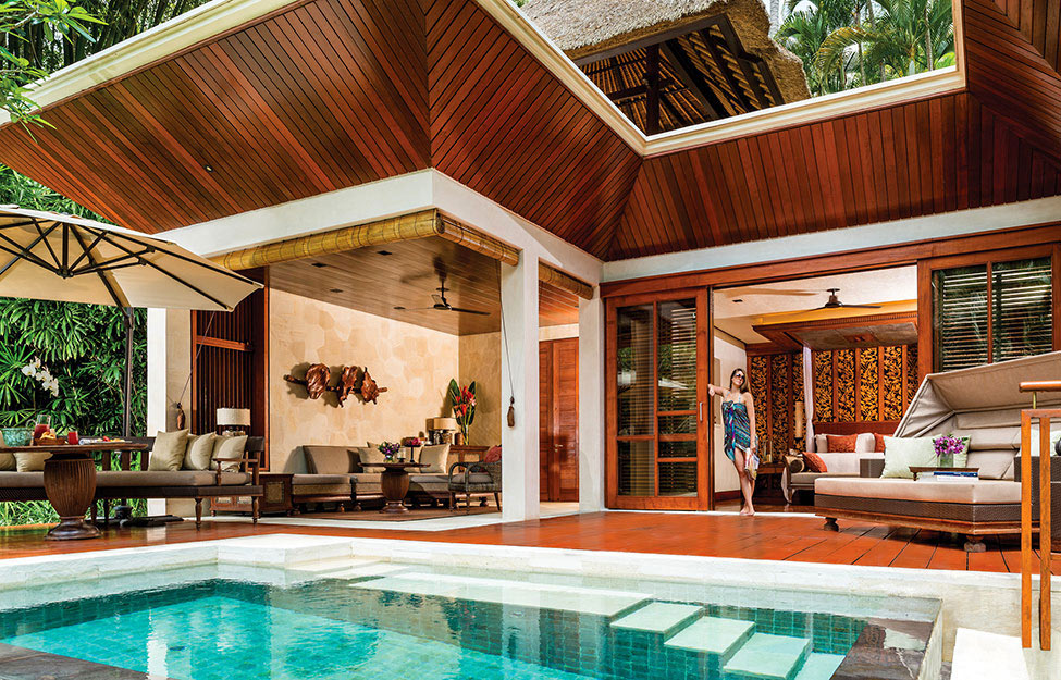 Pool, Outdoor Living, Terrace, Four Seasons Resort Bali in Sayan, Bali