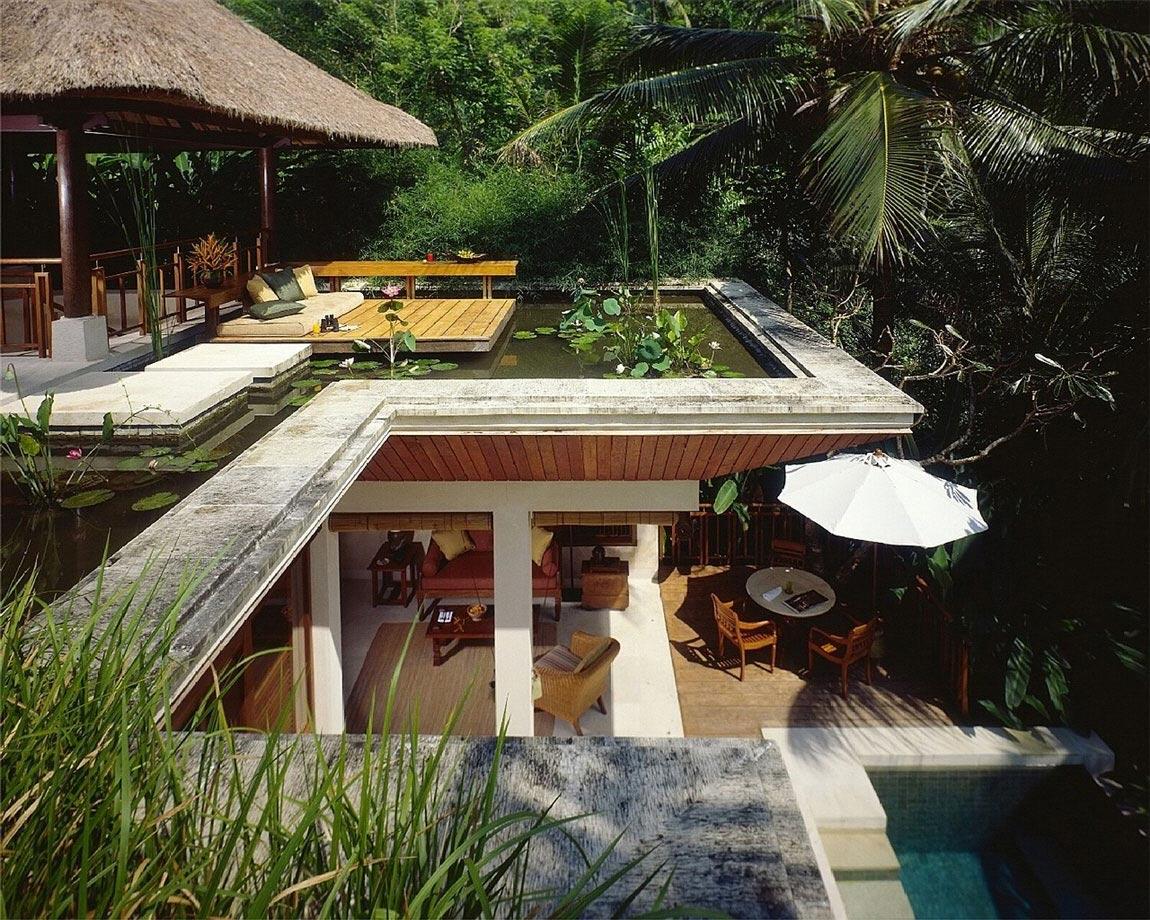 Water Feature, Deck, Four Seasons Resort Bali in Sayan, Bali