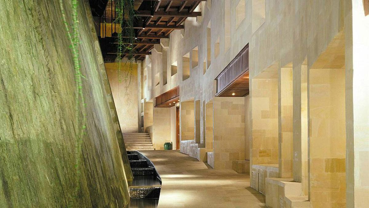 Waterfall Water Feature, Four Seasons Resort Bali in Sayan, Bali