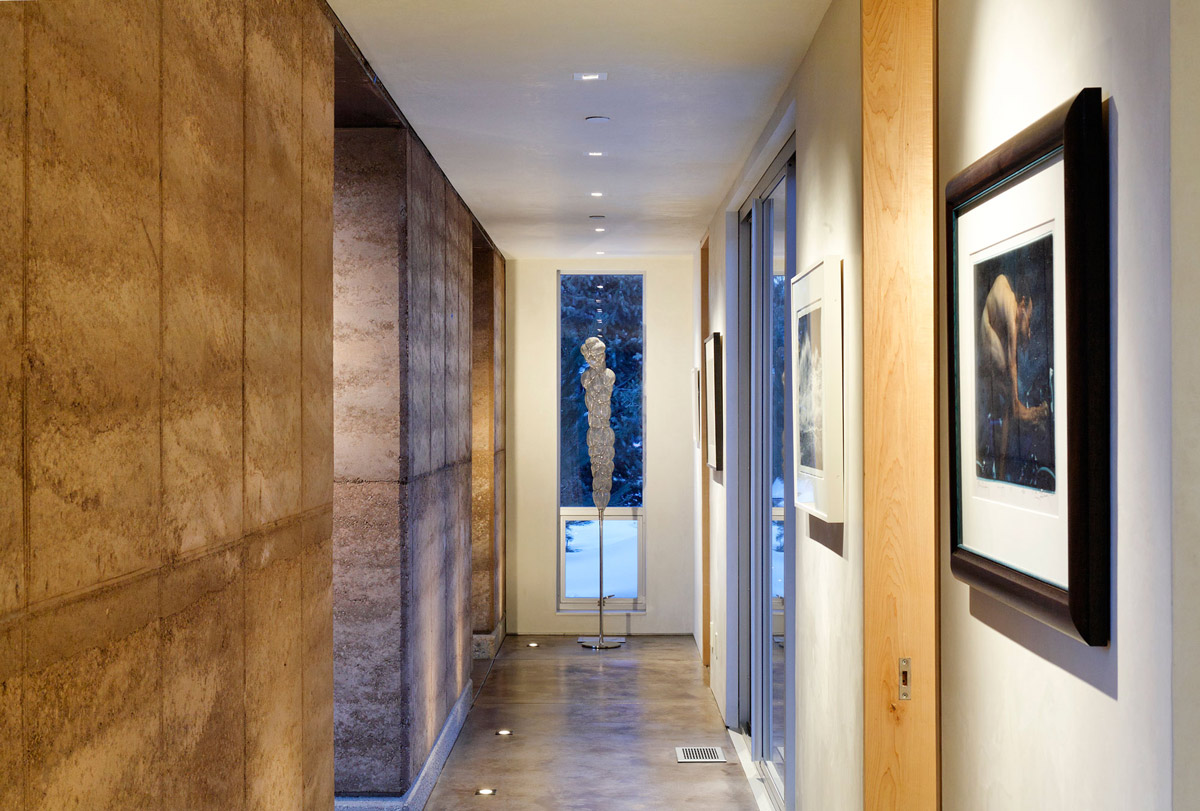 Art, Hallway, Imposing Contemporary Home in Aspen, Colorado