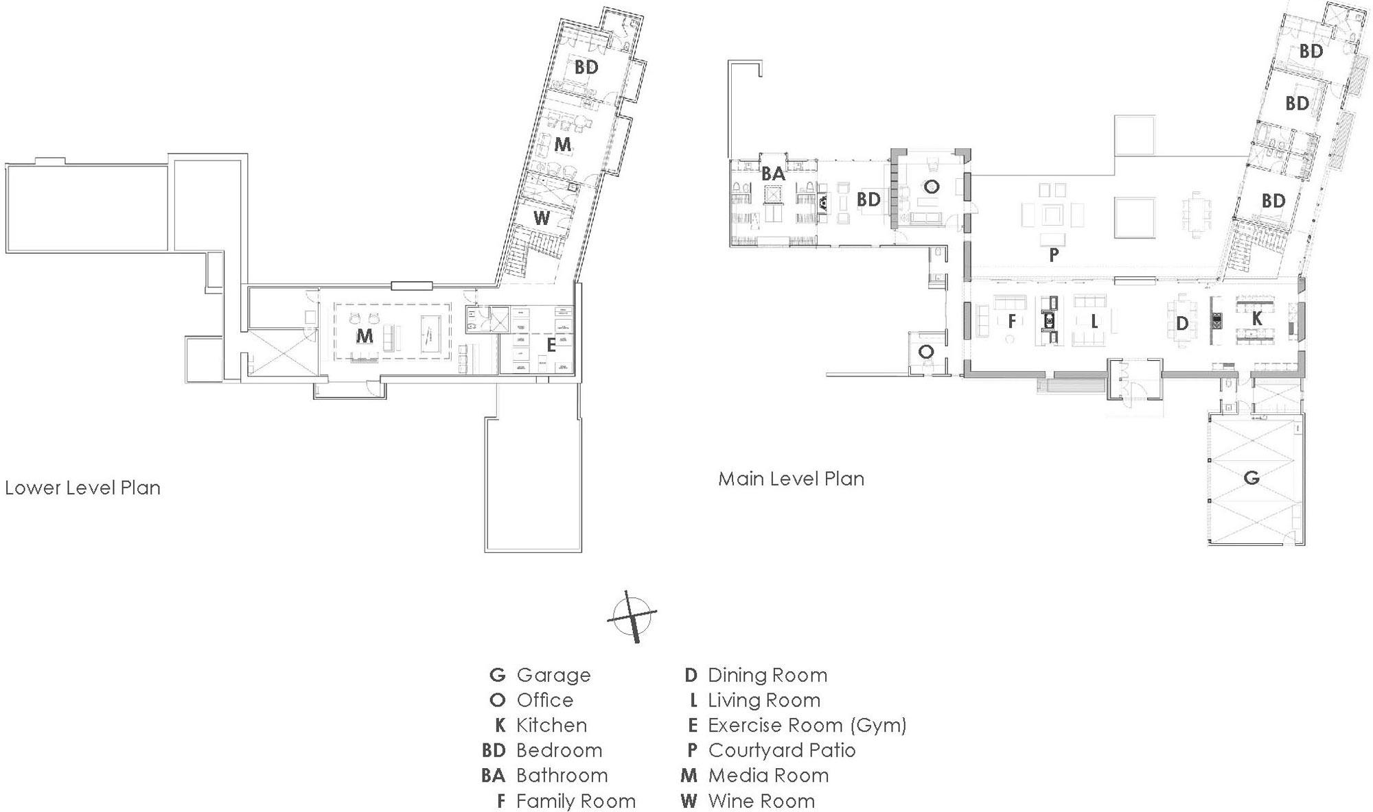 Floor Plans, Imposing Contemporary Home in Aspen, Colorado