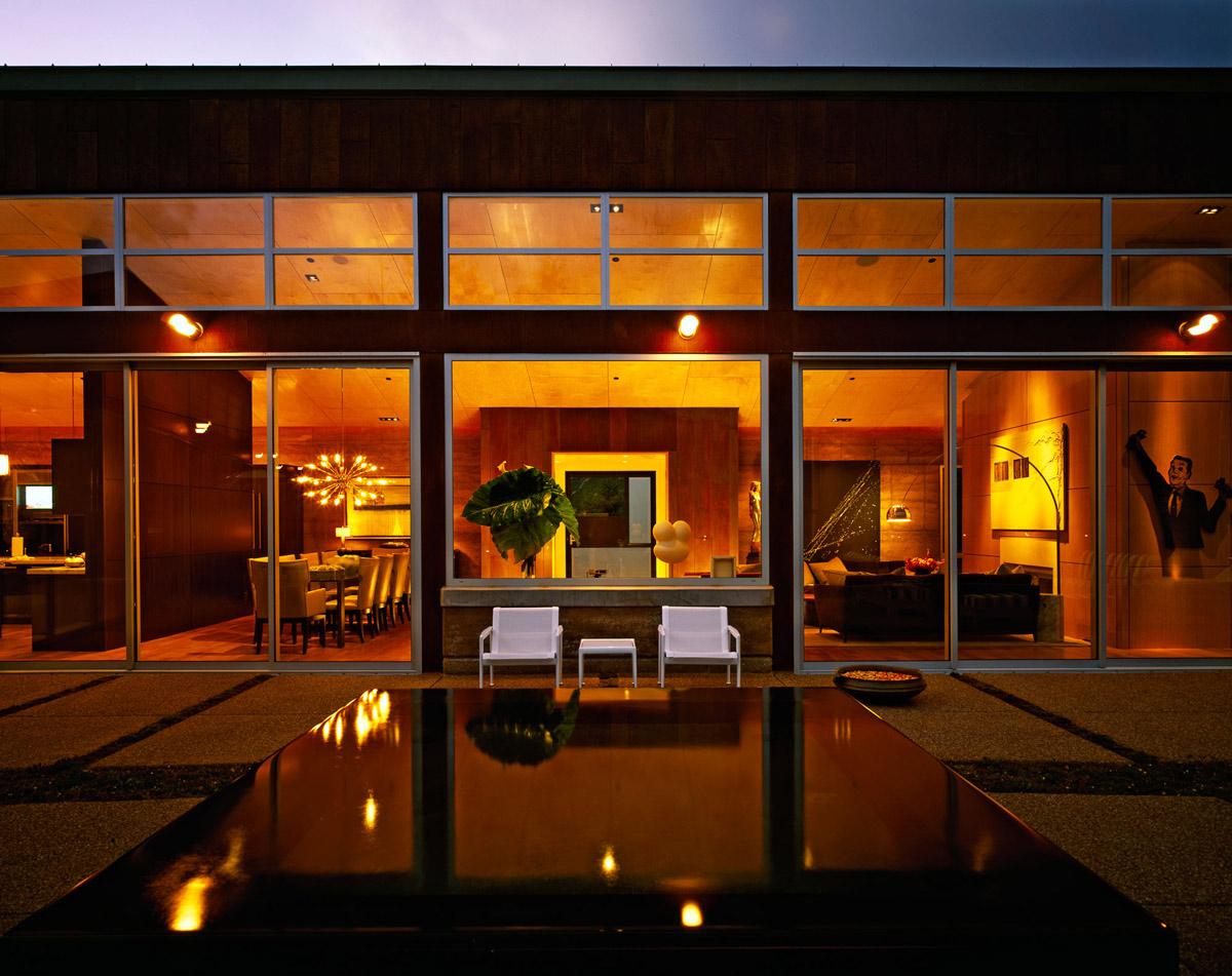 Jacuzzi, Patio Doors, Lighting, Imposing Contemporary Home in Aspen, Colorado