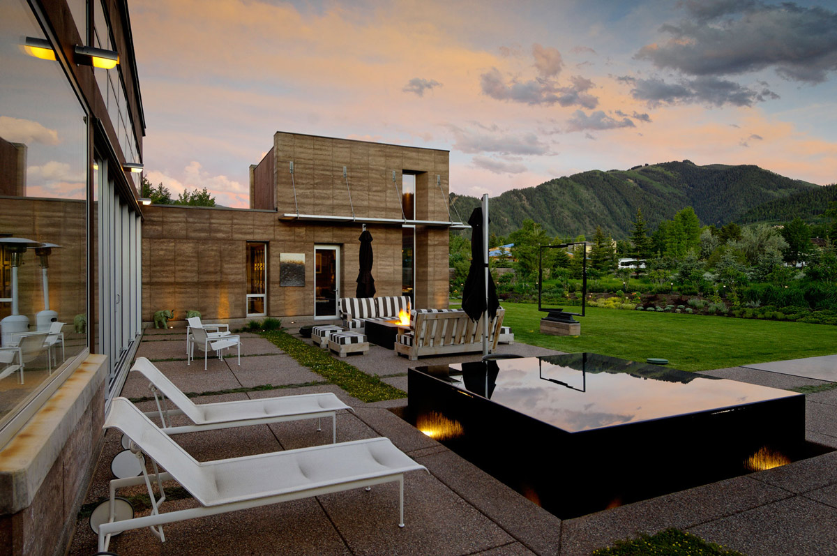 Hot Tub, Imposing Contemporary Home in Aspen, Colorado