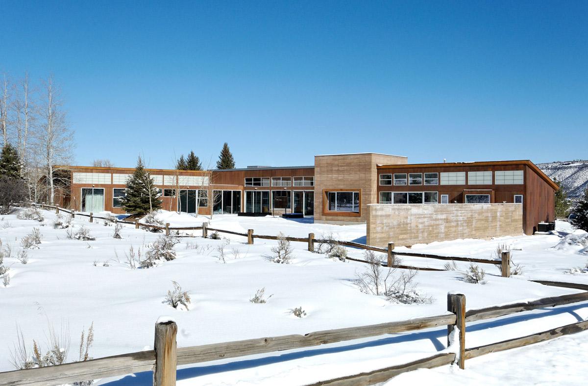 Snow, Imposing Contemporary Home in Aspen, Colorado