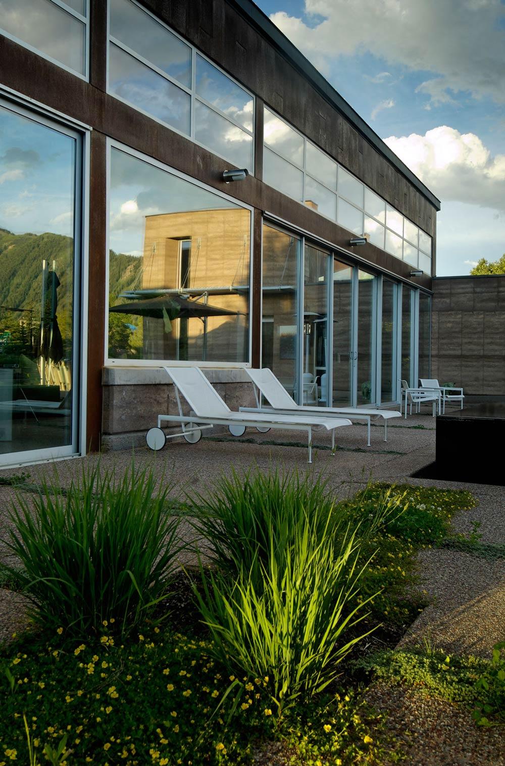 Terrace, Imposing Contemporary Home in Aspen, Colorado