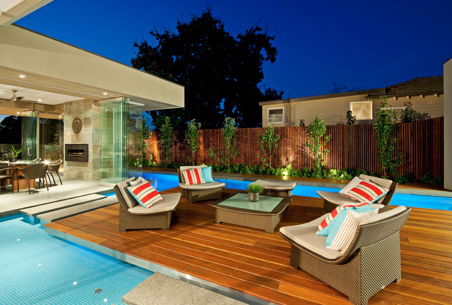 Deck, Island, Outdoor Pool, Home in Canterbury, Australia