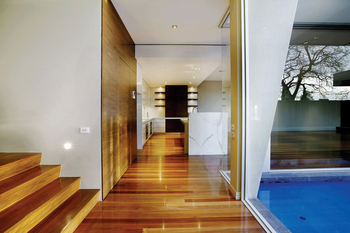 Hallway, Home in Canterbury, Australia