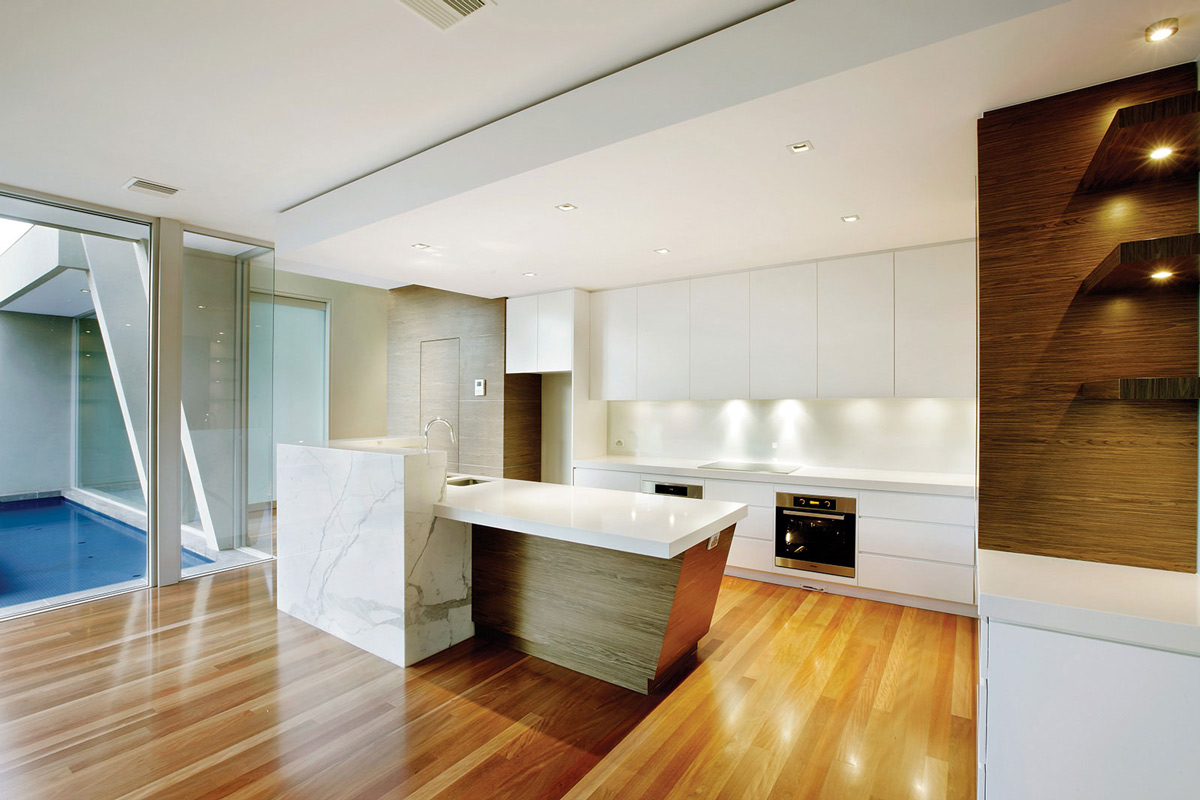 White Kitchen, Home in Canterbury, Australia