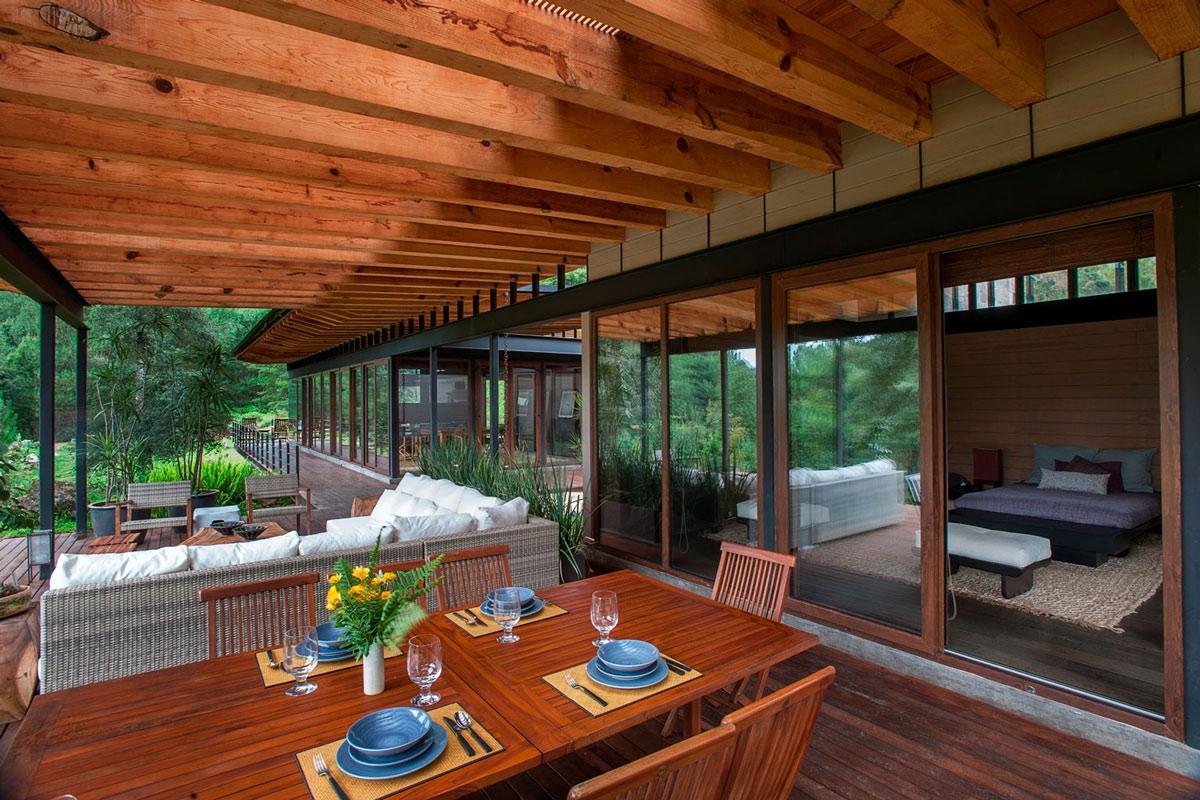 Bedroom, Terrace, Stunning Home in Valle de Bravo, Mexico
