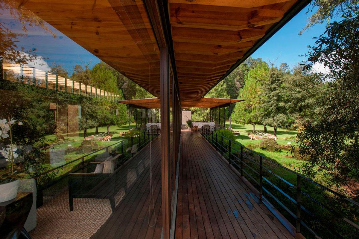 Glass Walls, Decking, Garden, Stunning Home in Valle de Bravo, Mexico
