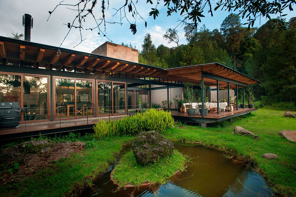 Pond, Patio Doors, Stunning Home in Valle de Bravo, Mexico