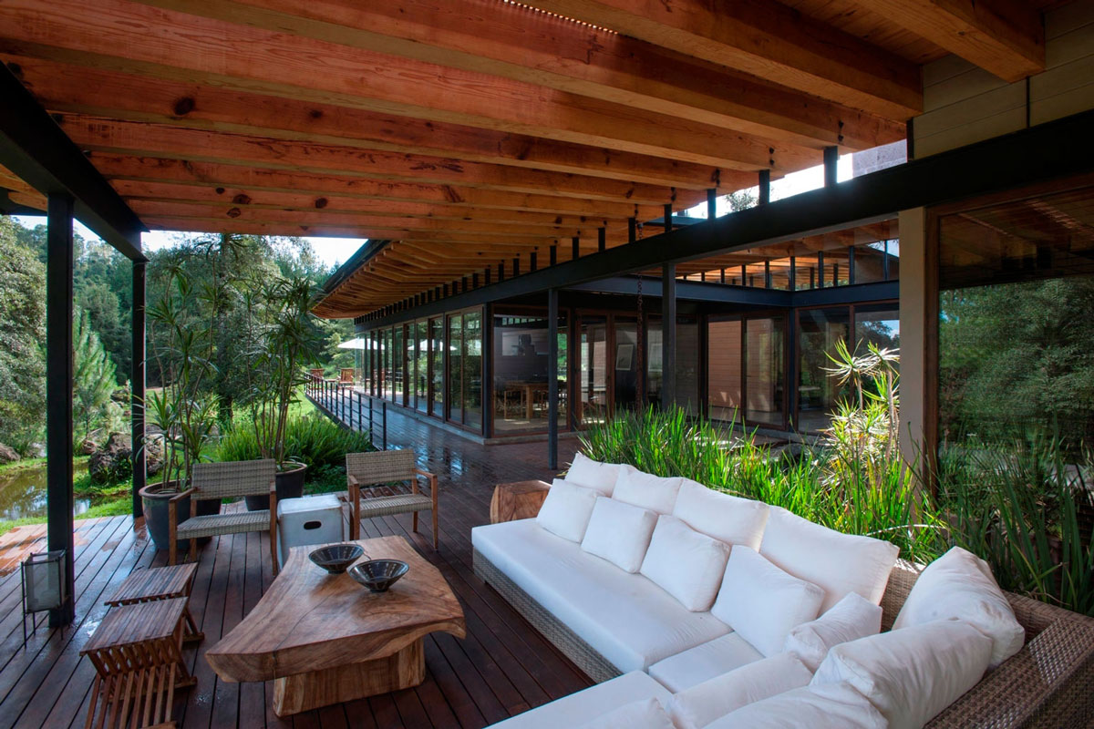 Outdoor White Sofa, Coffee Table, Stunning Home in Valle de Bravo, Mexico