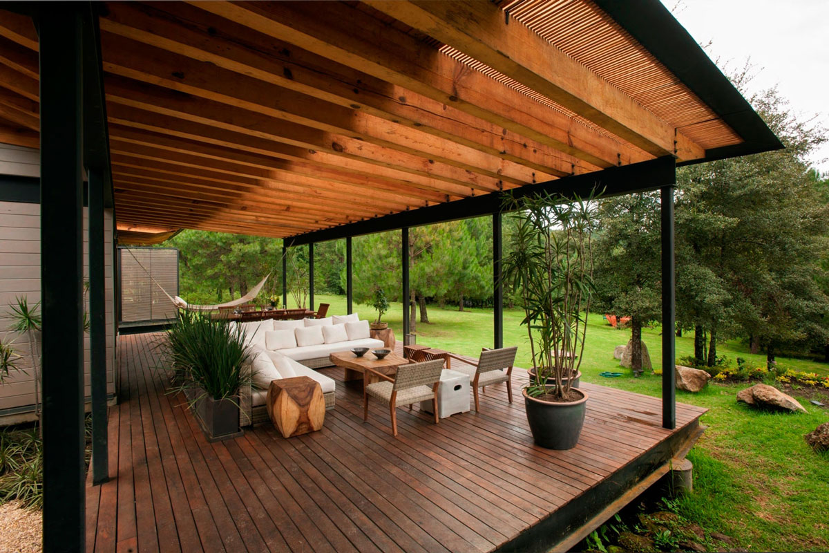 Wood Decking, Terrace, Stunning Home in Valle de Bravo, Mexico