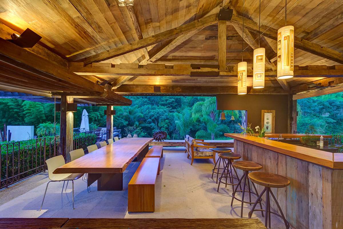 Awesome Wooden Outdoor Dining Table, Lighting, Bar, Charming Rustic House In  Amarante, Portugal