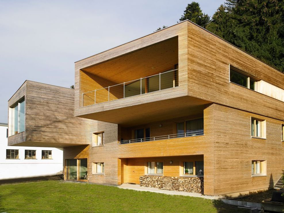Balcony, Cantilever, Modern Countryside House on Lake Constance, Austria
