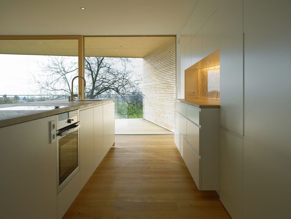 Bright Kitchen, Island, Modern Countryside House on Lake Constance, Austria