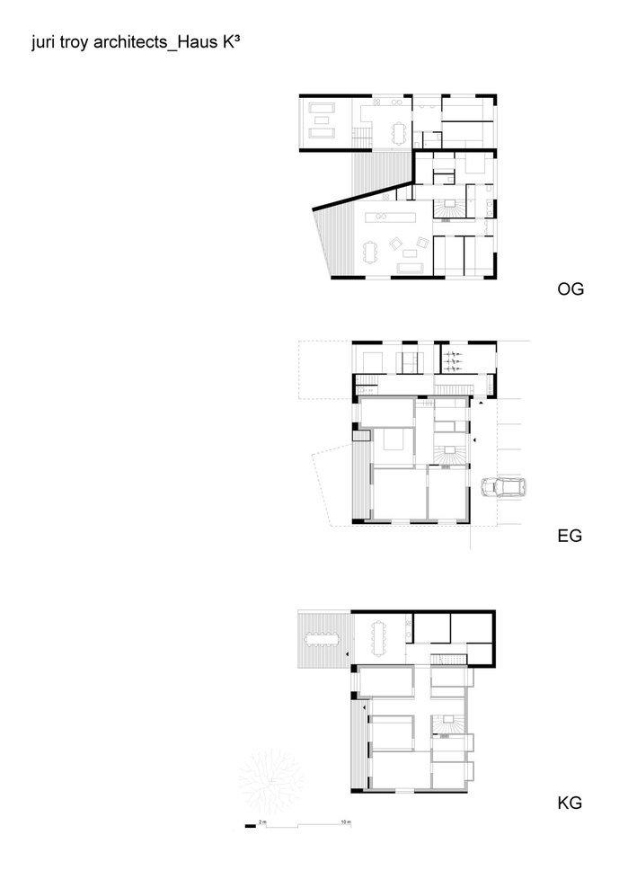 Floor Plans, Modern Countryside House on Lake Constance, Austria