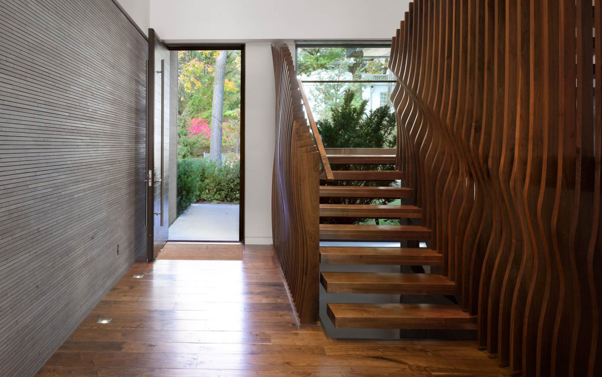 Contemporary Stairs, Impressive Modern Home in Toronto, Canada