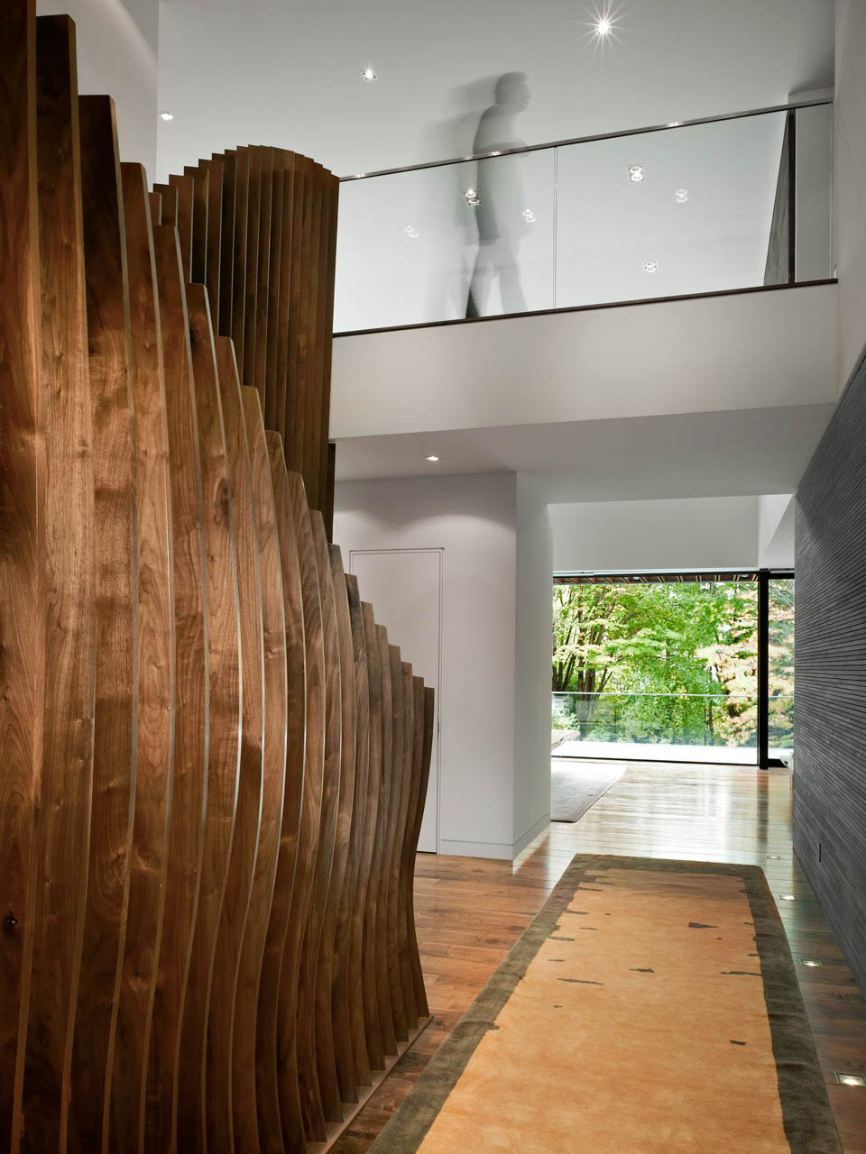 Glass Balustrading, Stairs, Impressive Modern Home in Toronto, Canada