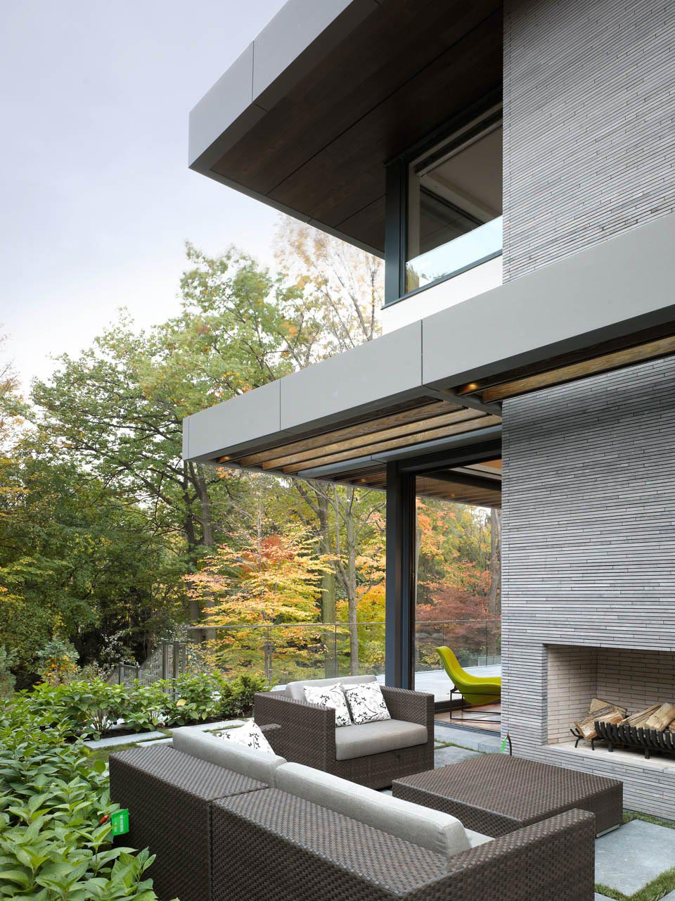 Impressive Modern Home In Toronto Canada . Modern Outdoor Fireplace ...