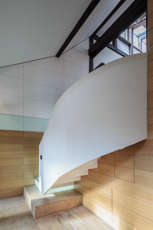 Contemporary Staircase, Loft in Bucharest, Romania by TECON