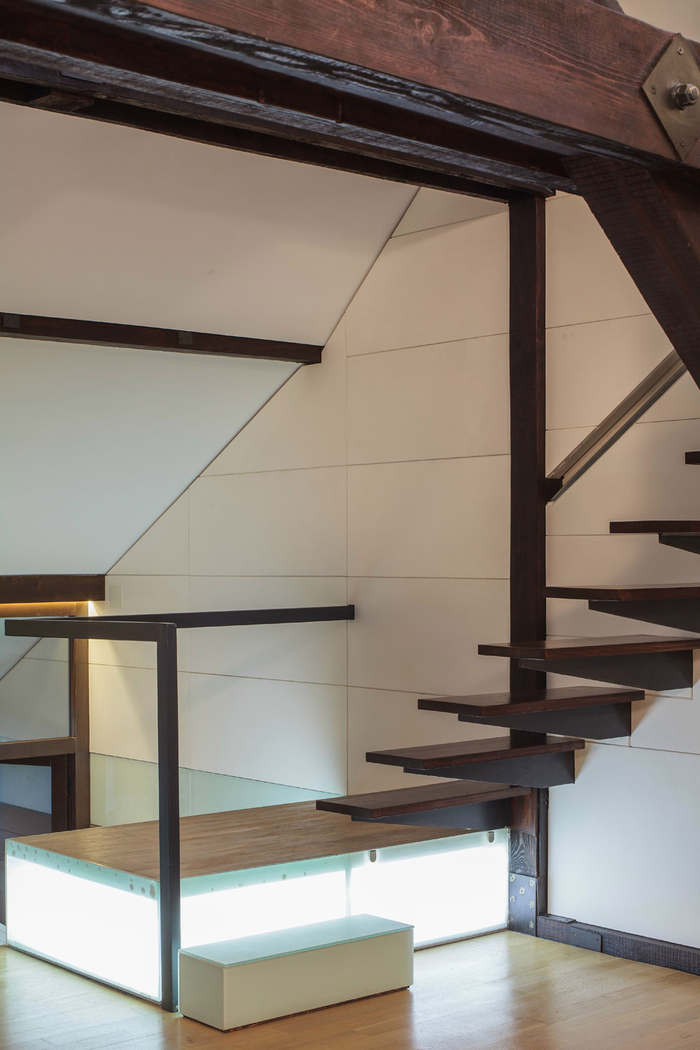 Light Box Base, Stairs, Loft in Bucharest, Romania by TECON