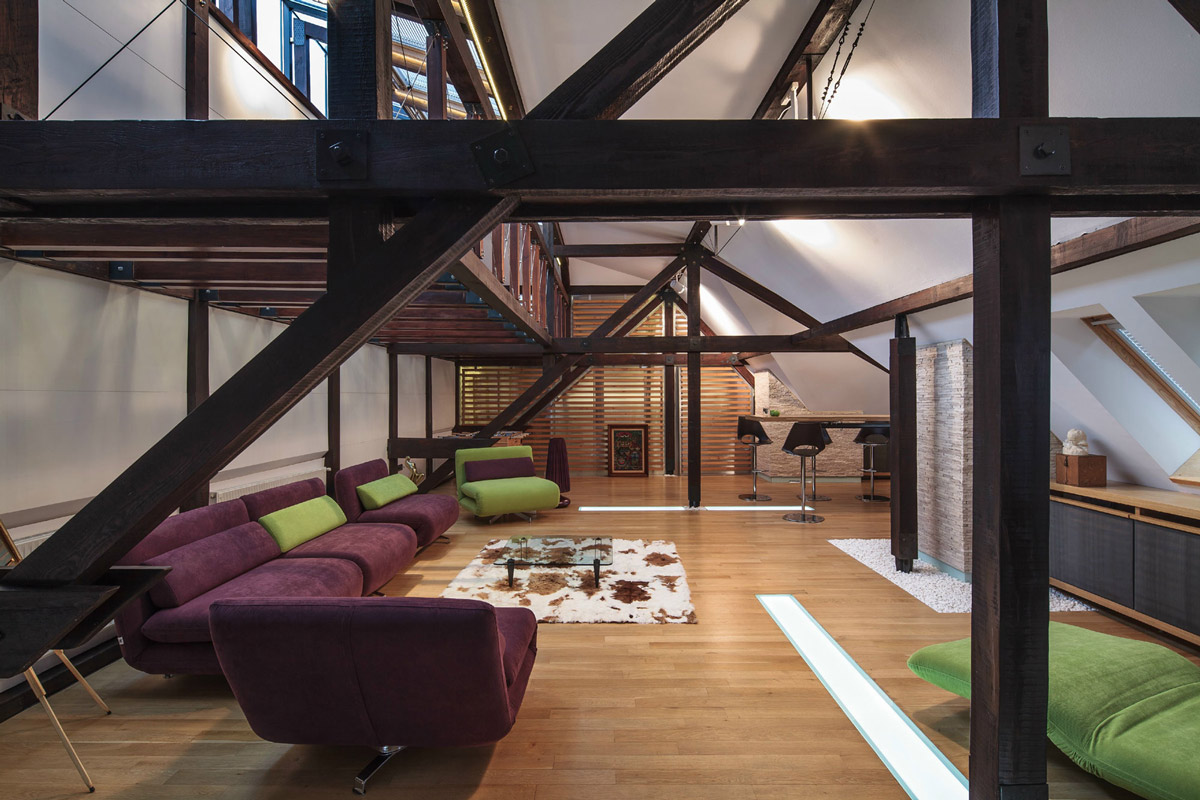 Living-Space, Sofa, Rug, Loft in Bucharest, Romania by TECON