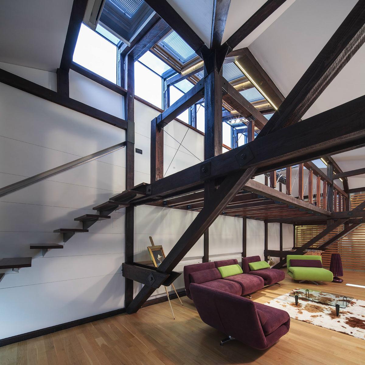 Stairs, Loft in Bucharest, Romania by TECON