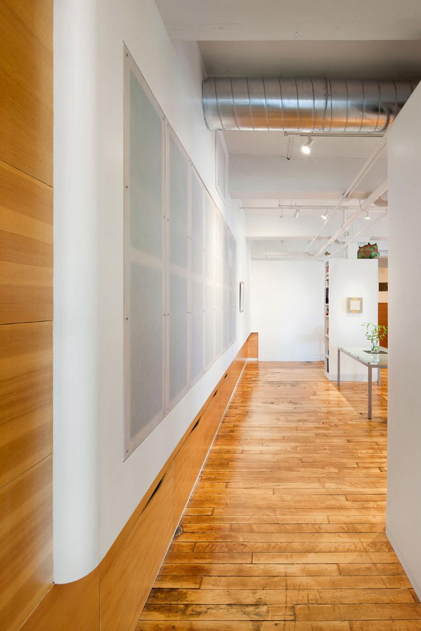 Hallway, Loft Renovation in Rhode Island, USA