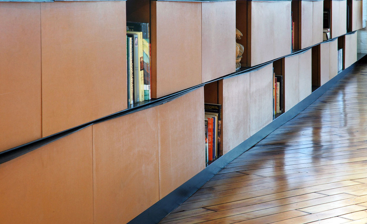 Shelves, Loft Renovation in Rhode Island, USA