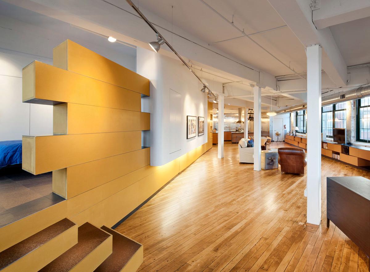 Wooden Flooring, Loft Renovation in Rhode Island, USA