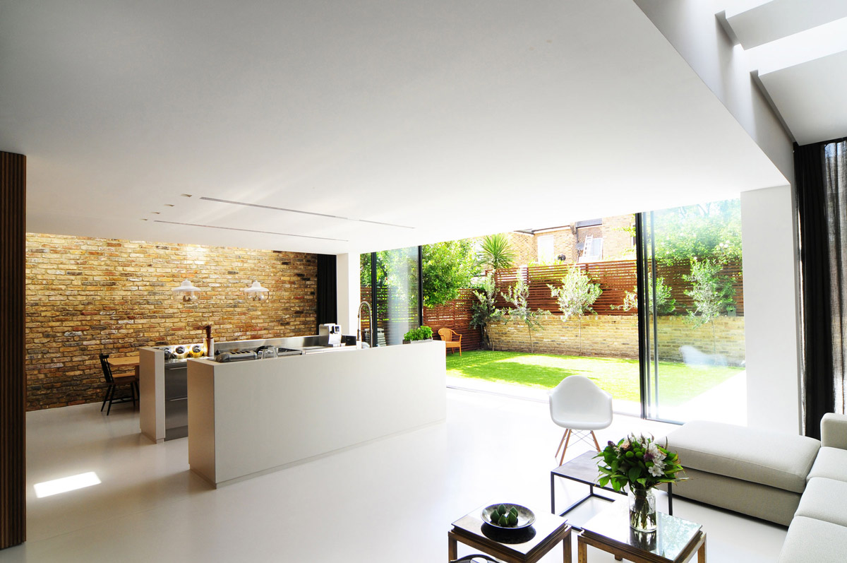 Contemporary Kitchen, Brick Wall, Modern Home in London by Bureau de Change Design Office
