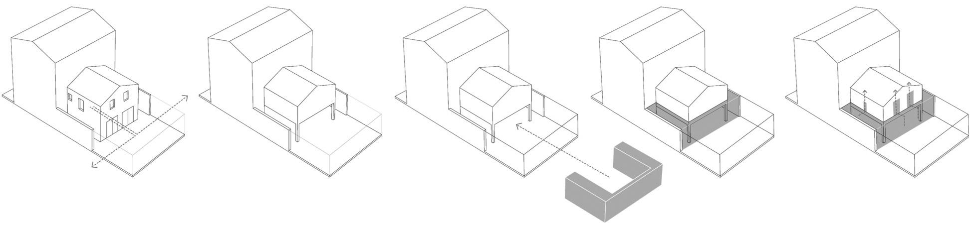 Diagram, Modern Home in London by Bureau de Change Design Office