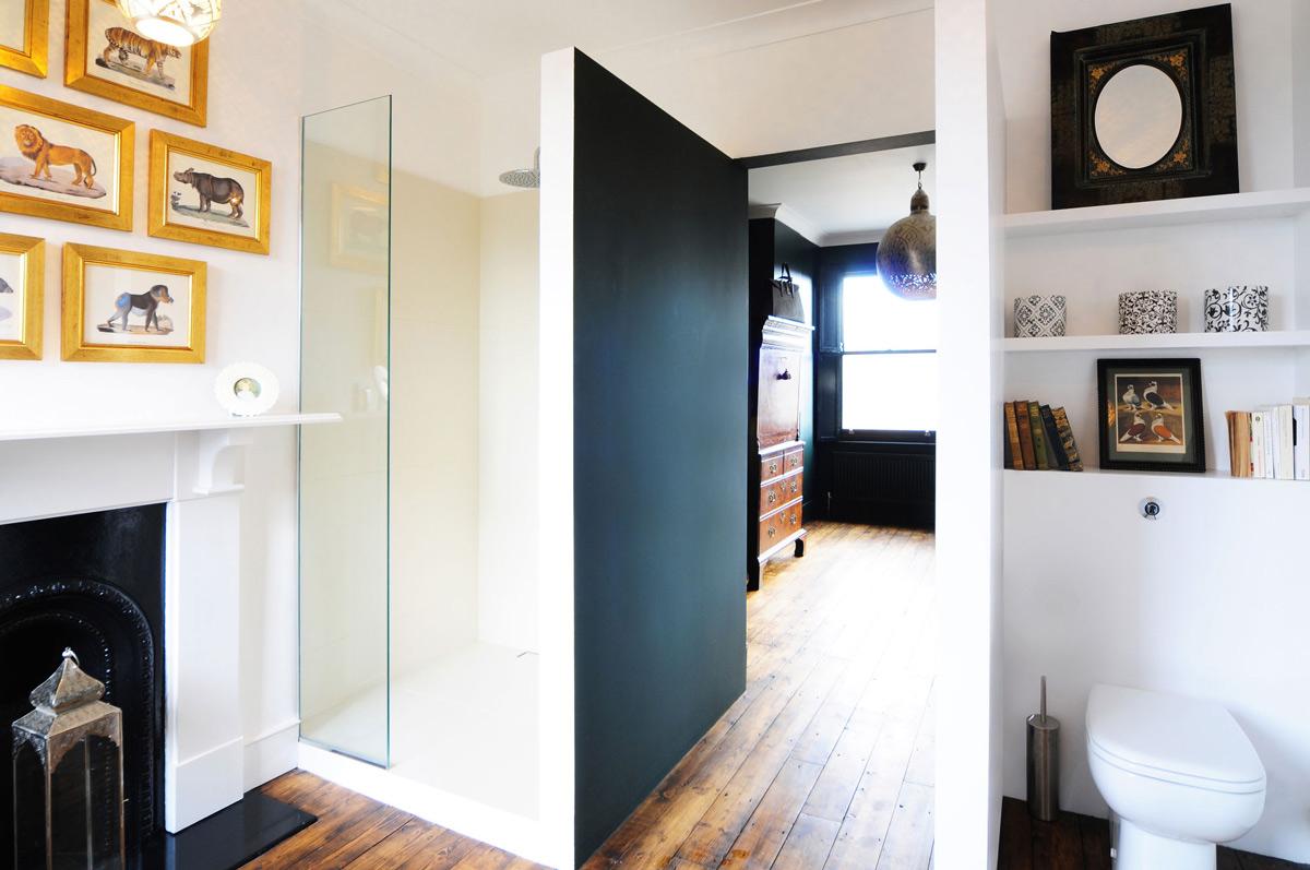 Shower, Fireplace, Modern Home in London by Bureau de Change Design Office