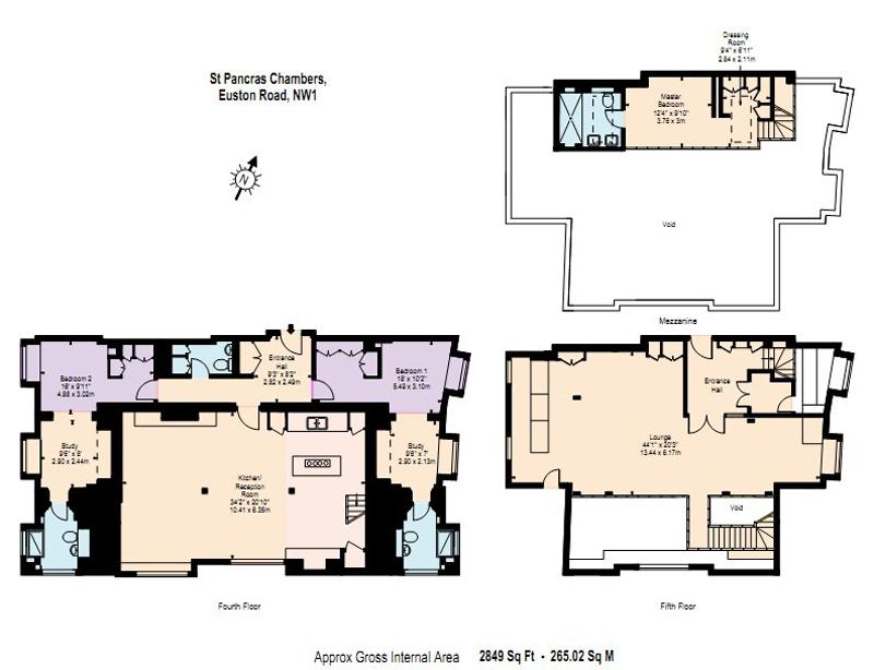 Floor Plan, St Pancras Penthouse Apartment in London