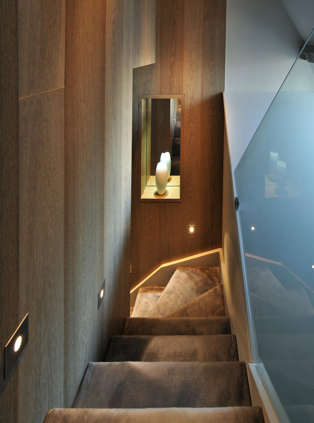 Stairs, Lighting, St Pancras Penthouse Apartment in London