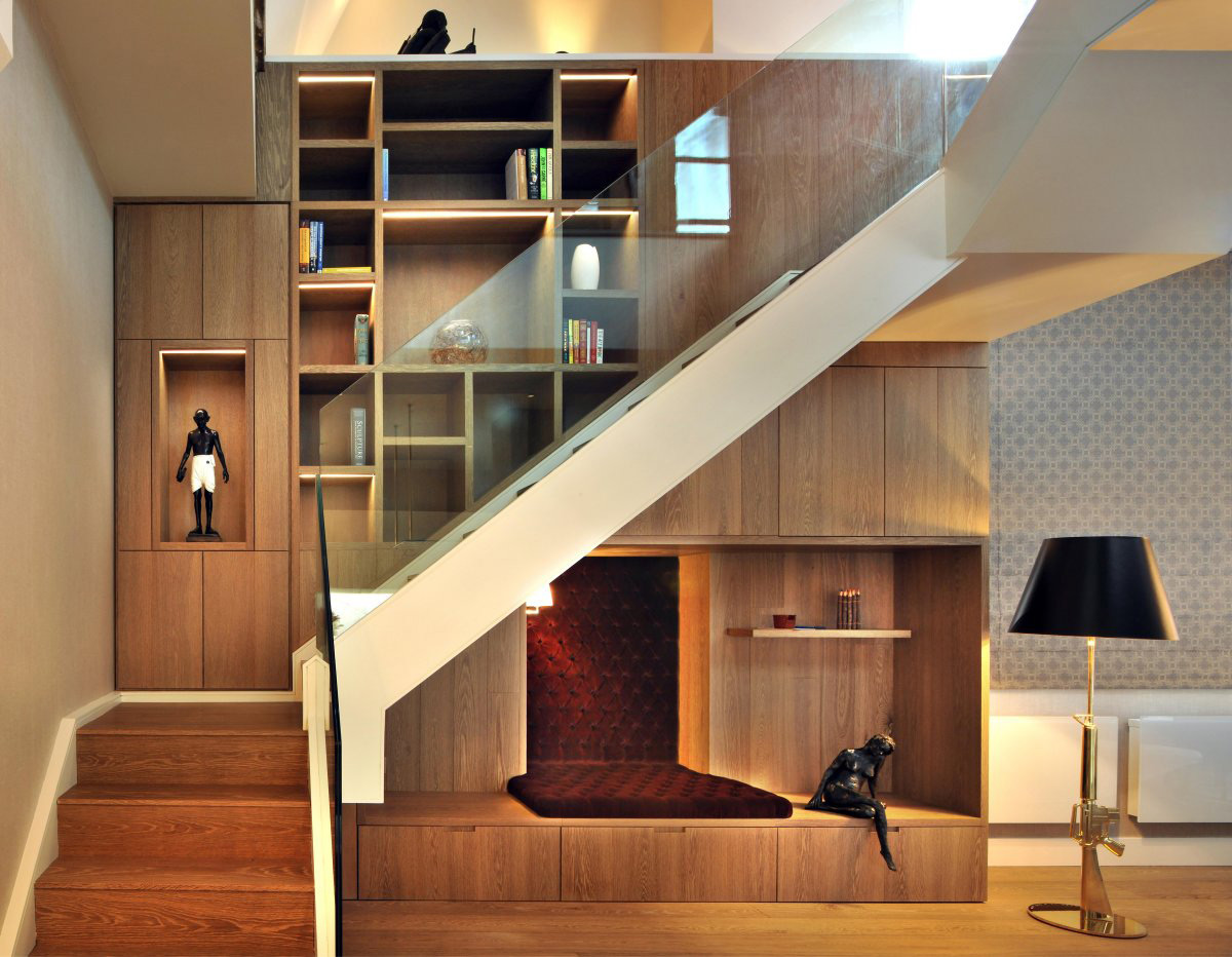 Penthouse With Living Room Stairs