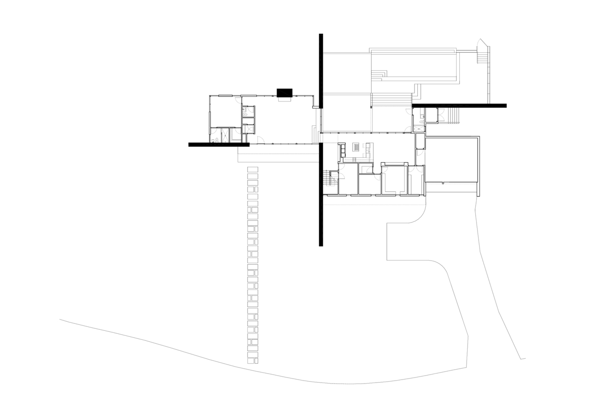 Ground Floor Plan, Contemporary Renovation in West Lake Hills, Texas
