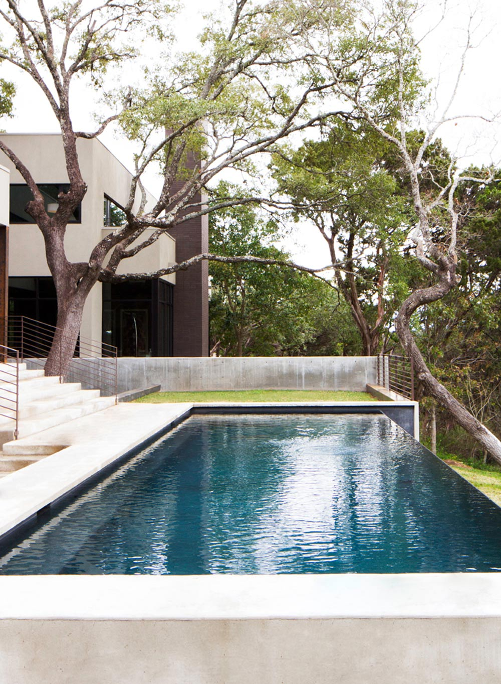 Infinity Pool, Contemporary Renovation in West Lake Hills, Texas