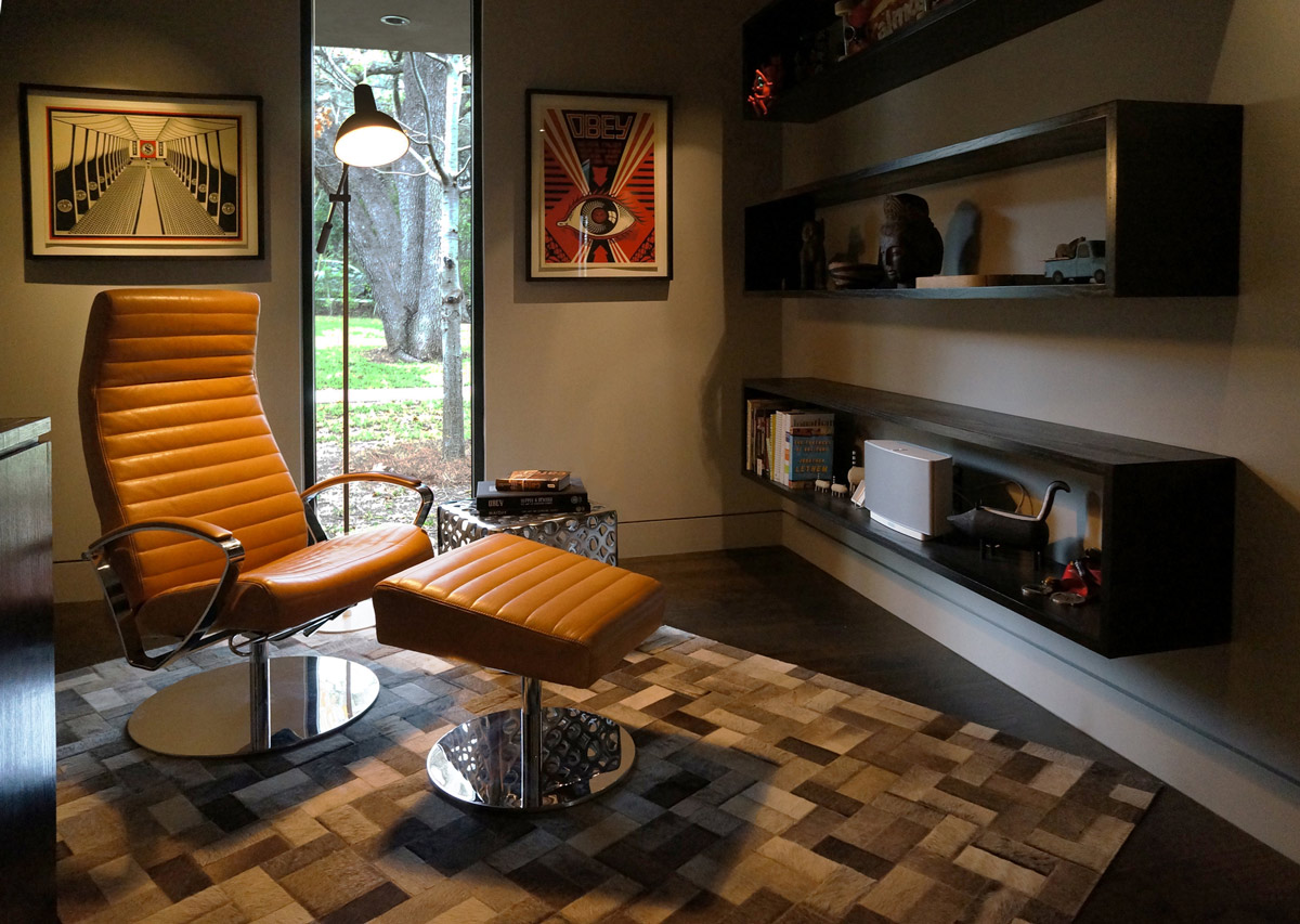 Reading Room, Contemporary Renovation in West Lake Hills, Texas