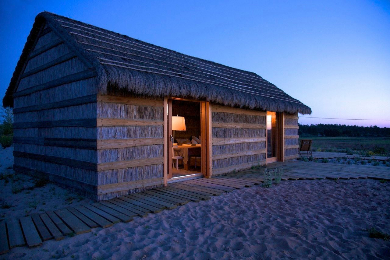Evening, Hut, Peaceful Retreat in Comporta, Portugal