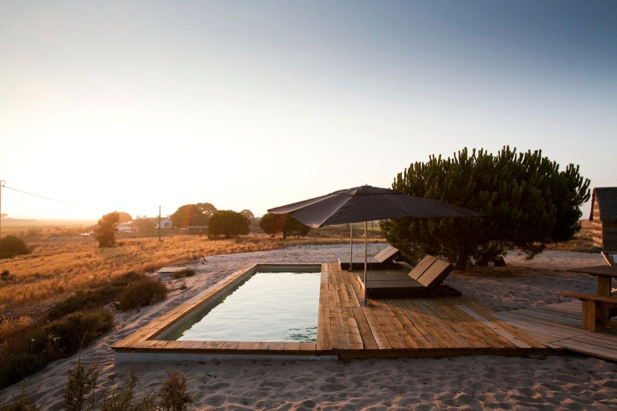 Rustic Pool Area, Peaceful Retreat in Comporta, Portugal