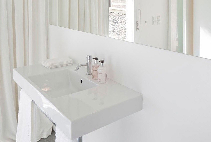 White Bathroom Sink, Peaceful Retreat in Comporta, Portugal