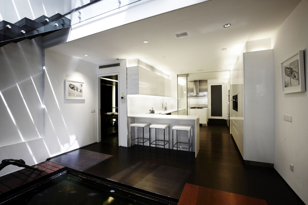 Stylish shop house renovation in singapore for Home designs singapore