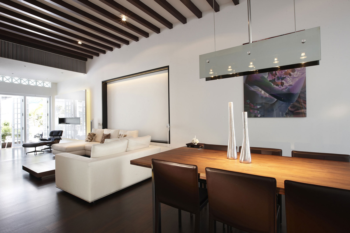 Dining Table, Lighting, Art, Shop House Renovation in Singapore