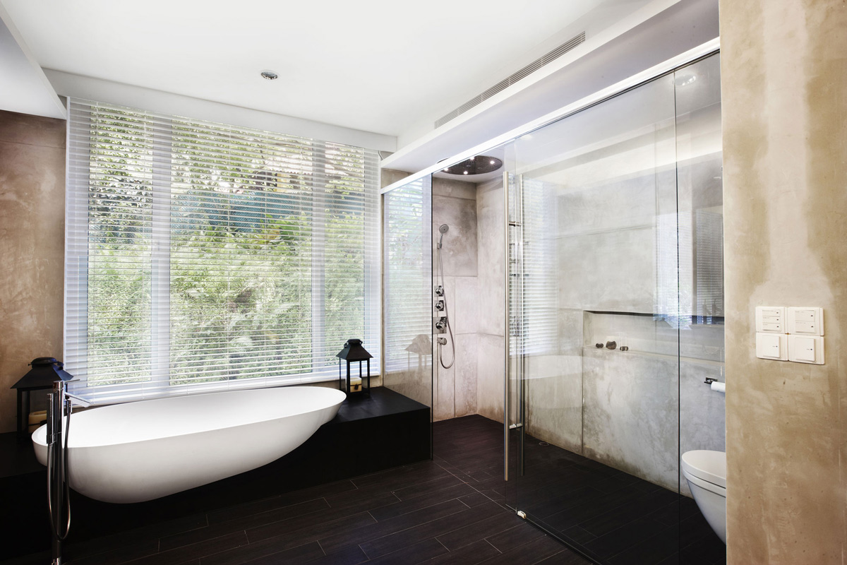Glass Shower, Bath, Shop House Renovation in Singapore