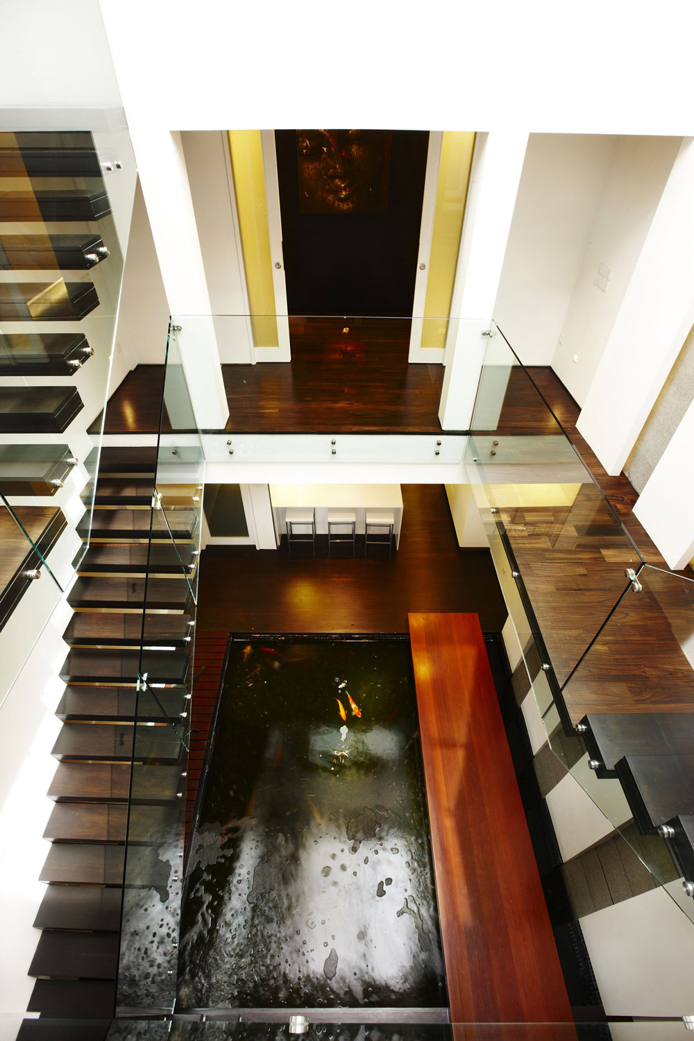 Koi Pond, Stairs, Shop House Renovation in Singapore