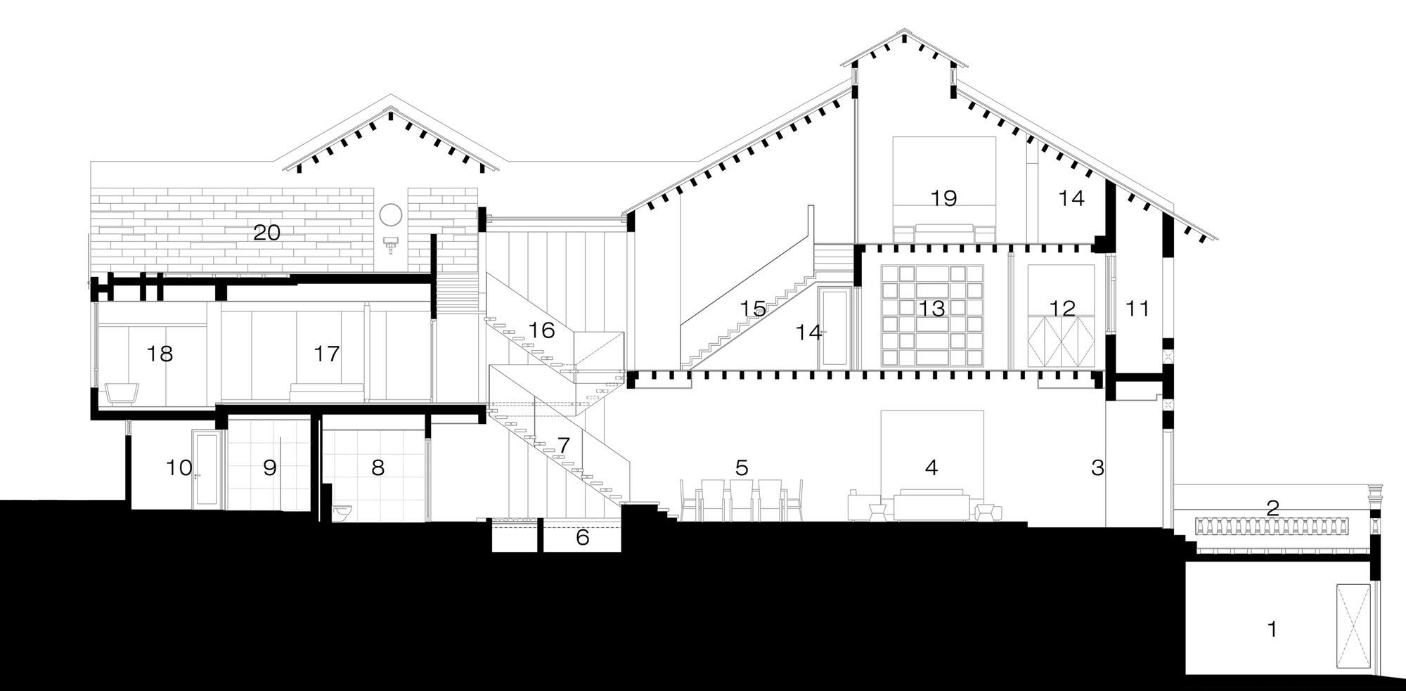 Section, Shop House Renovation in Singapore